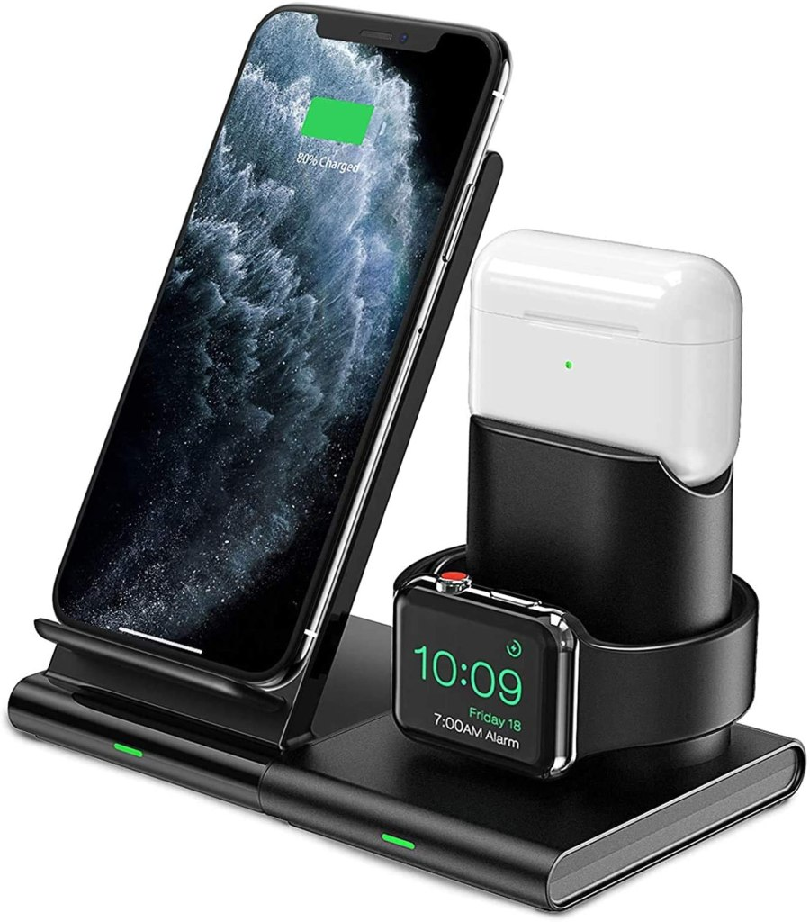 4. 3 in 1 charging station , the best idea!
