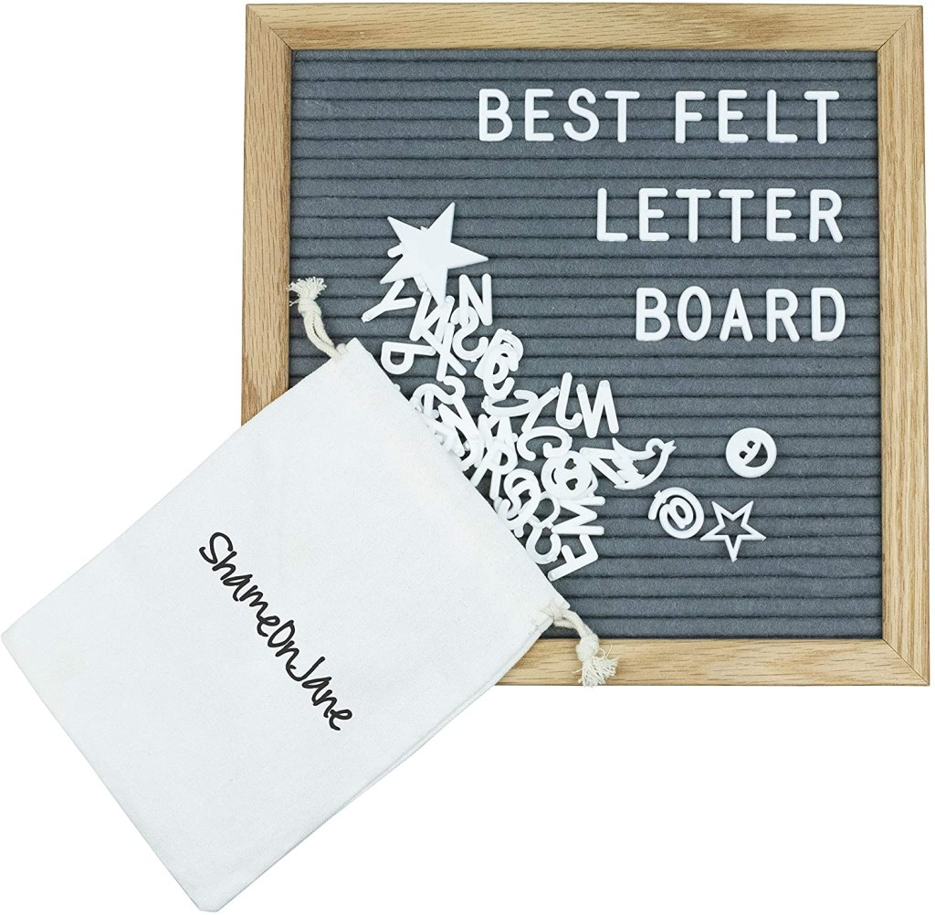 Felt Letter Board- I love my letter board and this one is currently less than $10